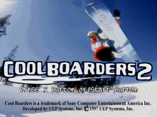 Cool Boarders 2 title screenshot