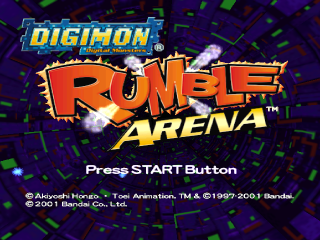 Digimon Rumble Arena title screenshot