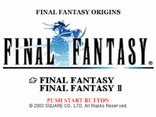 Final Fantasy Origins title screenshot