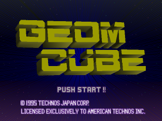 Geom Cube title screenshot