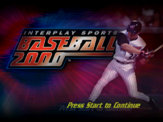 Interplay Sports Baseball 2000 title screenshot