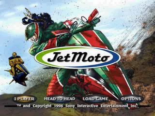 Jet Moto title screenshot