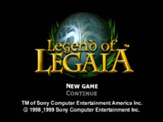 Legend of Legaia title screenshot