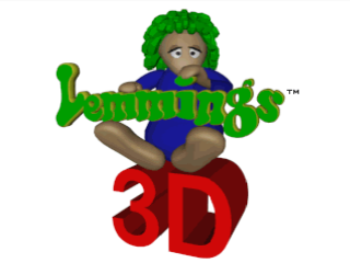 3D Lemmings title screenshot