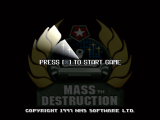 Mass Destruction title screenshot