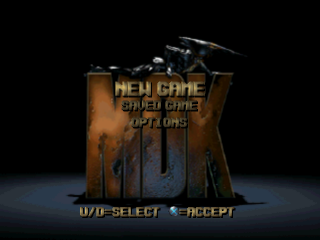 MDK title screenshot