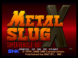 Metal Slug X title screenshot