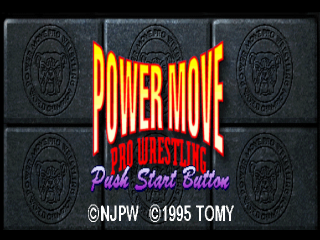 Power Move Pro Wrestling title screenshot