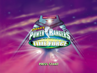 Power Rangers - Time Force title screenshot