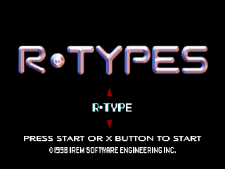 R-Types title screenshot