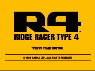 R4 - Ridge Racer Type 4 title screenshot