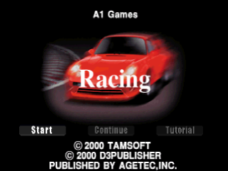 Racing title screenshot
