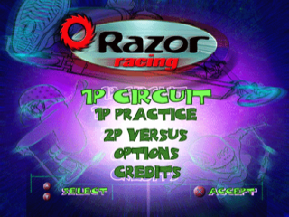 Razor Racing title screenshot