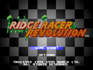 Ridge Racer Revolution title screenshot