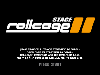 Rollcage - Stage II title screenshot