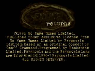 Sentinel Returns title screenshot