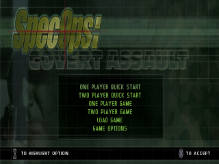 Spec Ops - Covert Assault title screenshot