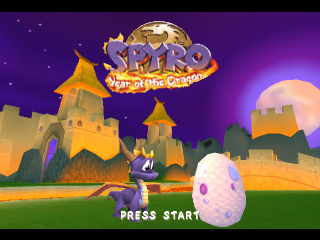 Spyro 3 - Year of the Dragon title screenshot