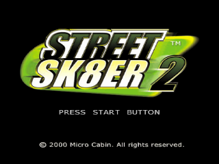 Street Sk8er 2 title screenshot