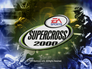 SuperCross 2000 title screenshot
