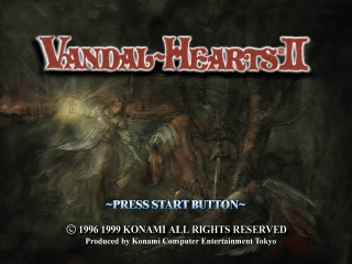 Vandal Hearts II title screenshot