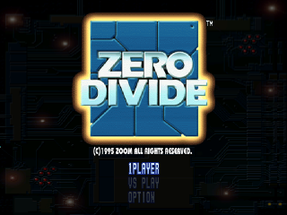 Zero Divide title screenshot