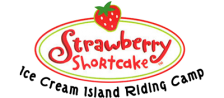 Strawberry Shortcake - Ice Cream Island - Riding Camp logo