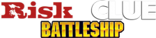 Three-in-One Pack - Risk + Battleship + Clue logo
