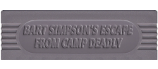 Bart Simpson's Escape from Camp Deadly logo