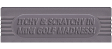 Simpsons Itchy & Scratchy, The - Miniature Golf Madness logo