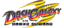Dash Galaxy in the Alien Asylum logo