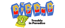 Dig Dug II - Trouble in Paradise logo