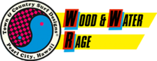 Town & Country Surf Designs - Wood & Water Rage logo