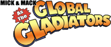 Mick & Mack as the Global Gladiators logo