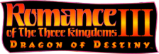 Romance of the Three Kingdoms III - Dragon of Destiny logo