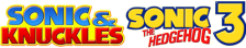 Sonic & Knuckles + Sonic The Hedgehog 3 logo