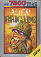 Alien Brigade Atari 7800 cover artwork