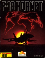 F-18 Hornet Atari 7800 cover artwork