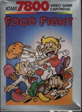 Food Fight Atari 7800 cover artwork