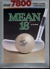 Mean 18 Ultimate Golf Atari 7800 cover artwork
