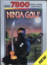 Ninja Golf Atari 7800 cover artwork