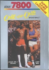 One-on-One Basketball Atari 7800 cover artwork