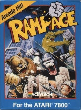 Rampage Atari 7800 cover artwork