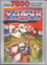 Xevious Atari 7800 cover artwork
