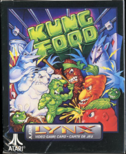 Kung Food Atari Lynx cover artwork