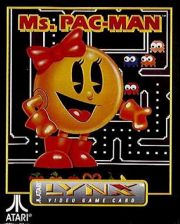 Ms. Pac-Man Atari Lynx cover artwork