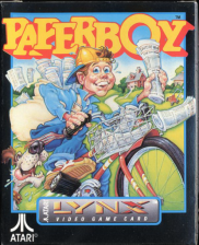 Paperboy Atari Lynx cover artwork