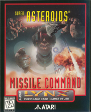 Super Asteroids & Missile Command Atari Lynx cover artwork