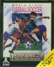 World Class Soccer Atari Lynx cover artwork