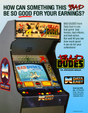 Bad Dudes vs. Dragonninja Coin Op Arcade cover artwork